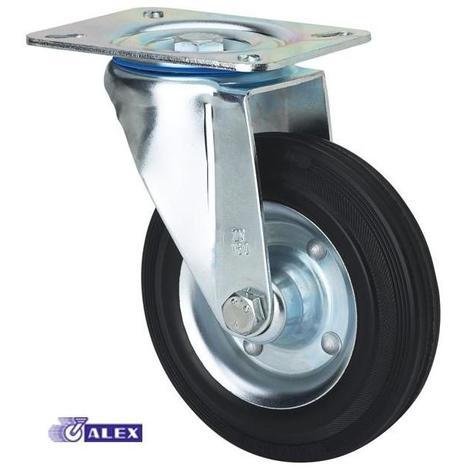 Rueda giratoria 2-0227 125ømm 140kg goma ALEX