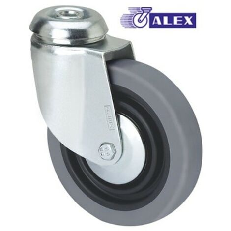 Rueda giratoria 3-0008 100ømm 70kg goma ALEX