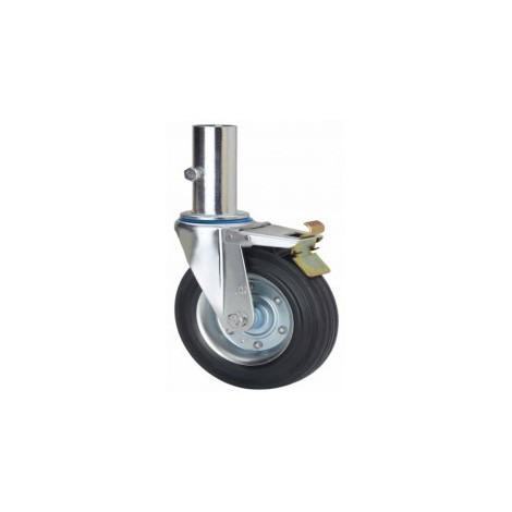 Rueda giratoria con freno 2-0905 200ømm 230kg goma ALEX