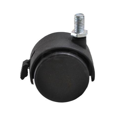 Rueda giratoria con freno, D-50 mm