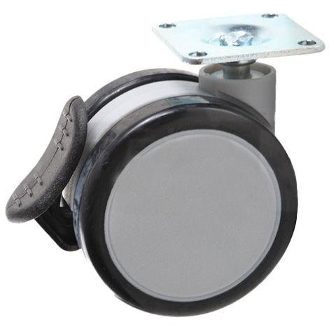 Rueda giratoria con freno, D-65 mm