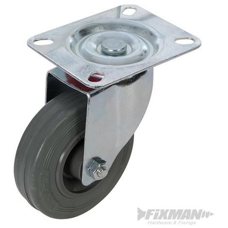 Rueda giratoria de goma (100 mm. 70 kg)