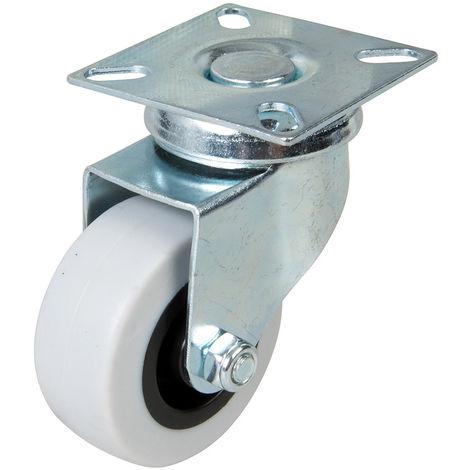 Rueda giratoria de goma 50 mm, 50 kg - NEOFERR