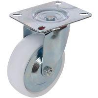 Rueda giratoria de polipropileno 100 mm, 125 kg