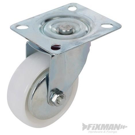 Rueda giratoria de polipropileno (75 mm. 70 kg)