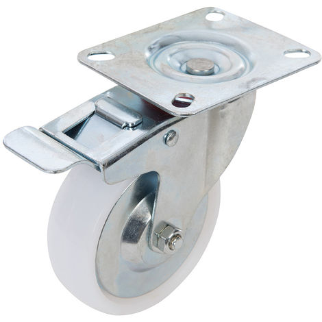 Rueda giratoria de polipropileno con freno 125 mm, 160 kg - NEOFERR