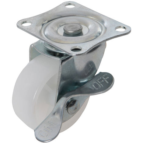 Rueda giratoria de polipropileno con freno 50 mm, 50 kg - NEOFERR