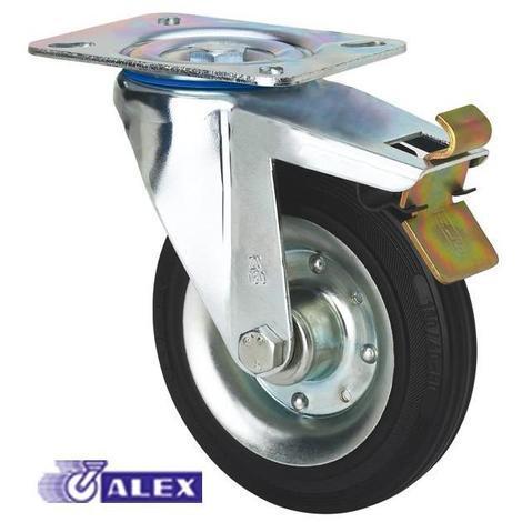 Rueda giratoria freno 2-1149 100ømm 110kg goma ALEX
