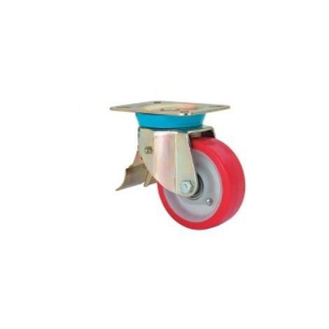 Rueda giratoria freno 2-1613 100ømm 200kg poliuretano ALEX