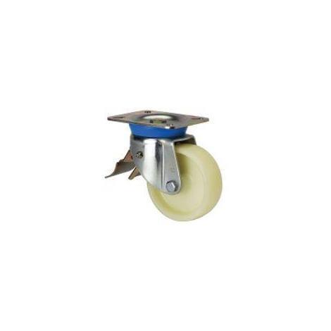 Rueda giratoria freno 2-1617 80ømm 250kg nylon ALEX