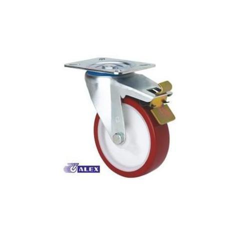 Rueda giratoria freno 2-2366 80ømm 100kg poliuretano ALEX