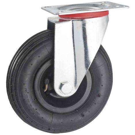 Rueda inflable pivotante 200 mm