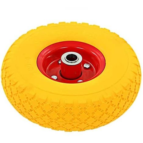 Rueda maciza de carretilla anti-pinchazos 100 Kg diametro 26 Amarillo