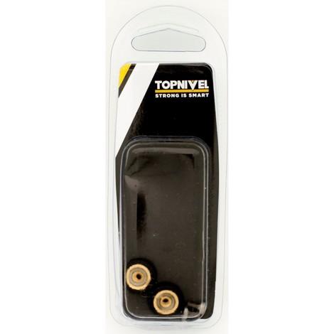 Rueda mampara rodamiento metalico 16mm nv107611 con tornillo