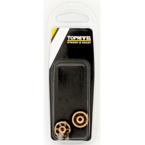 Rueda mampara rodamiento metalico 20mm nv107609 con tornillo