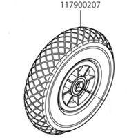 Rueda neumática para TS 1000 (art. 5520000) Condicionamiento 2 ruedas Wolfcraft