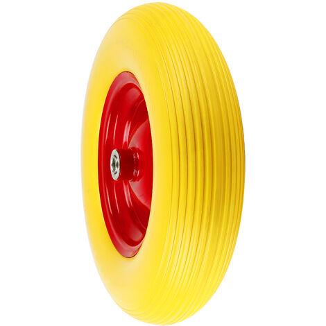 Rueda para carretilla goma maciza Ruedas de repuesto rueda de carretilla de mano 200 kg
