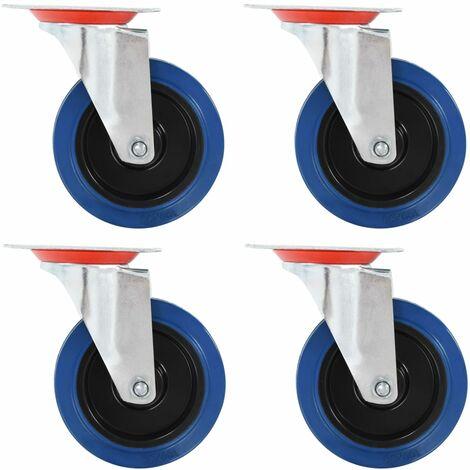 Ruedas giratorias 4 unidades 100 mm