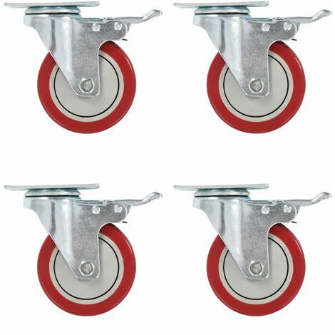 Ruedas giratorias 8 unidades 100 mm