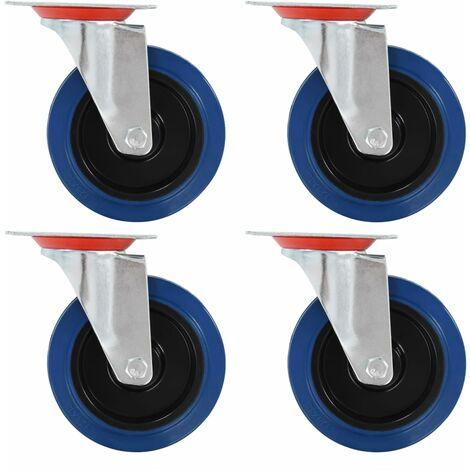 Ruedas giratorias 8 unidades 125 mm