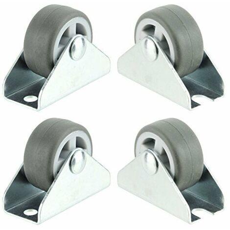 Ruedas giratorias universales Accesorio de placa fija Mini rueda de 1 '' (32 mm)
