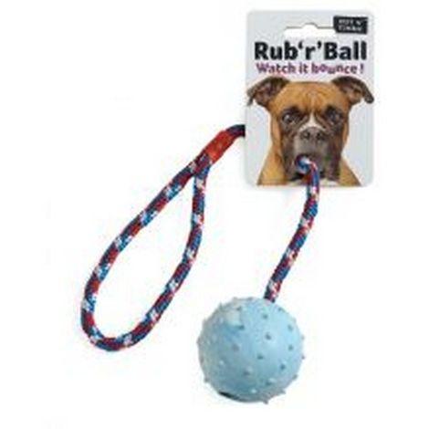 Ruff N Tumble Rub R Ball Rope & Ball Tug Dog Toy (One Size) (May Vary)