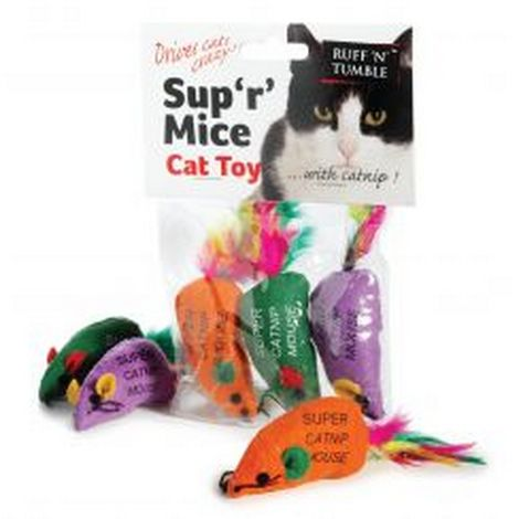 Ruff ´N´ Tumble Sup ´R´ Mice & Catnip (3 Pack) (May Vary)