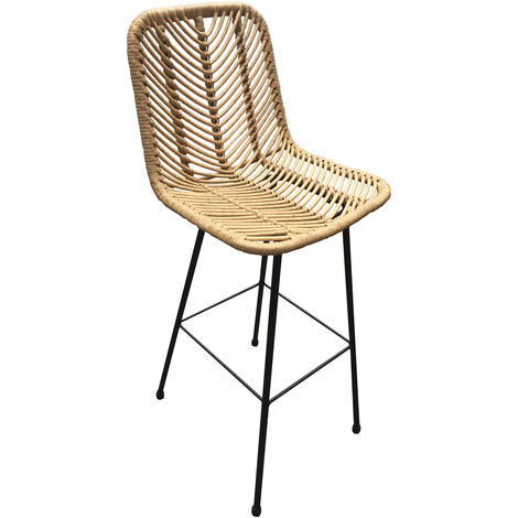 Ruffle Wooden Barstool