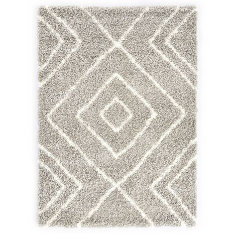 Rug Berber Shaggy PP Sand and Beige 120x170 cm