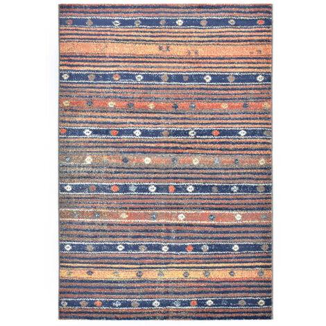 Rug Blue and Orange 160x230 cm PP - Blue