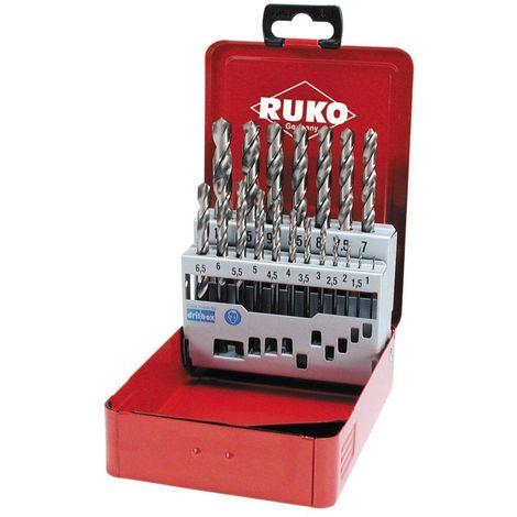 RUKO 214215 - Juego brocas HSS rectificadas en caja met
