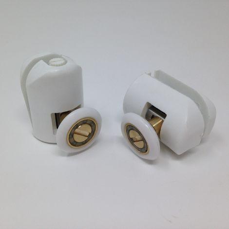 ruleta para cabina de ducha excéntrica SAMO RIC625 | Blanco