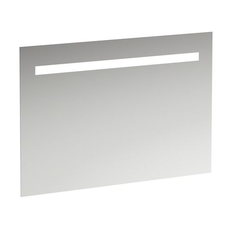 Run Leelo mirror with integrated horizontal LED lighting, aluminium frame, 1000 mm, version for external light switch - H4476619501441