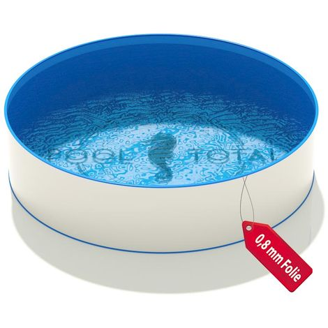 Rundbecken Ø 3,50 x 1,20 m, Folie blau 0,8 mm KB