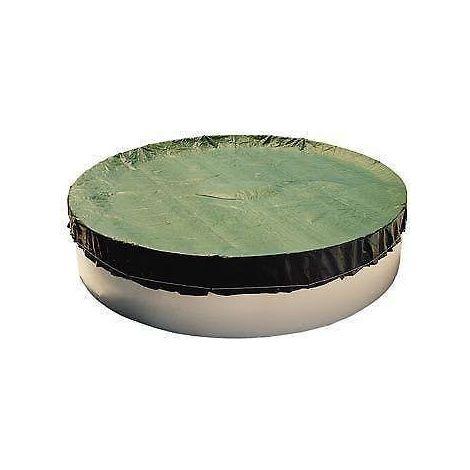 Rundbecken Abdeckplane 90g/m² grün/schwarz