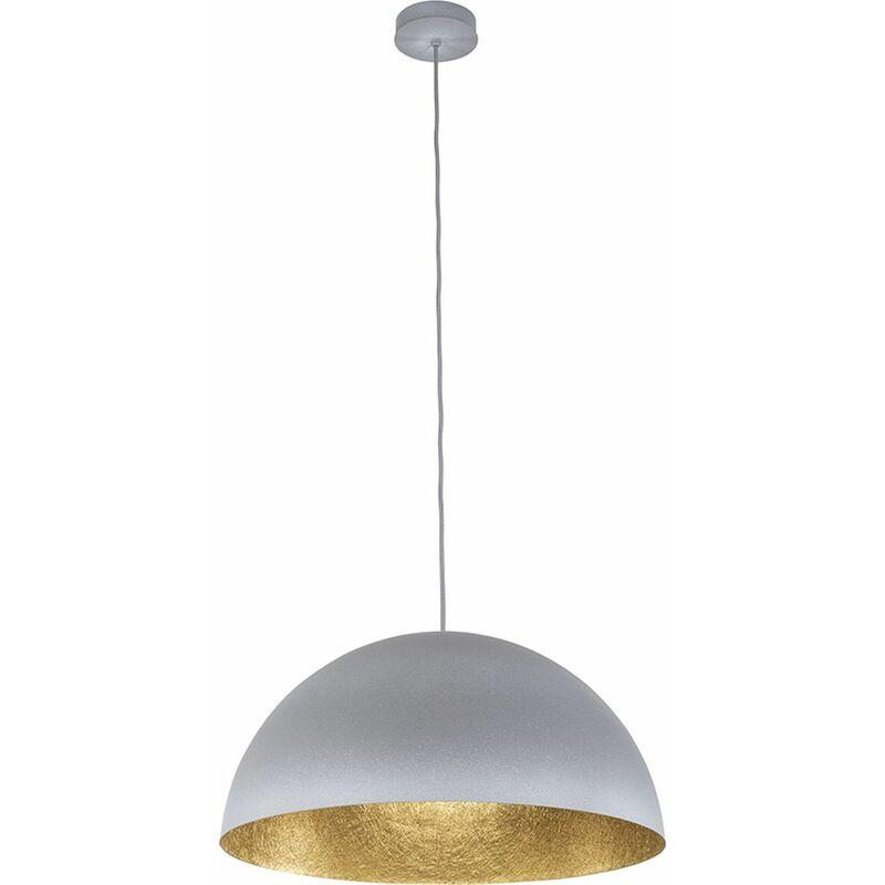 Runde Hängeleuchte Grau Gold Küche Esstisch - LICHT-ERLEBNISSE