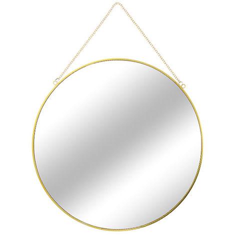 Runder Wandspiegel Gold mit Kette Ø60cm M56868