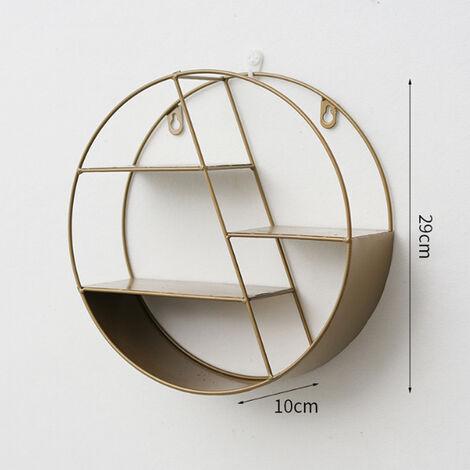 Rundes Wandregal Eisenregal Dekor für Wohnzimmer Schlafzimmer 29 x 10 cm
