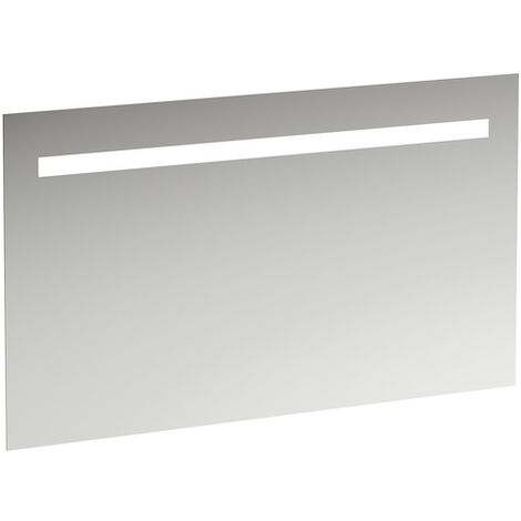 Running Leelo mirror with integrated horizontal LED lighting, aluminium frame, 1200 mm, version with 1 touch sensor switch - H4476729501441
