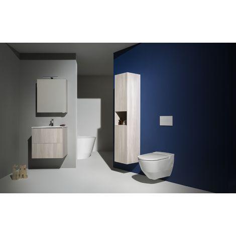 Running Navia Cleanet inodoro de ducha, lavable, de 4,5/3 litros, sin marco, 37x58 cm, color: blanco mate - H8206017570001