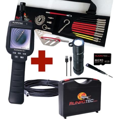 RUNPOTEC - Pack de oferta 12: Cámara de inspección Runpocam + Runposticks (varillas guía) - 11126