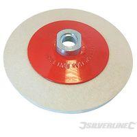 Ruota di lucidatura in feltro conica Silverline 115 mm