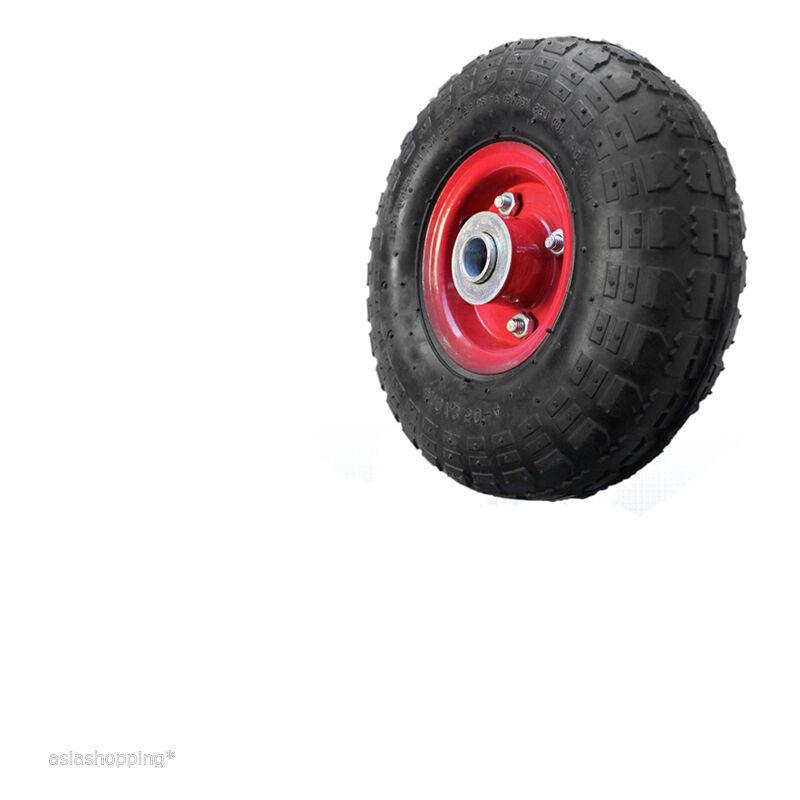 Ruota pneumatica 350x80 con cuscinetto per carriole completa di cerchio