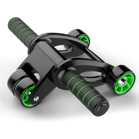 Ruota per muscoli addominali, attrezzatura per esercizi addominali, rullo per esercizi addominali con ginocchiera spessa, stabilità, equilibrio ed efficienza, per allenamento in palestra e in casa