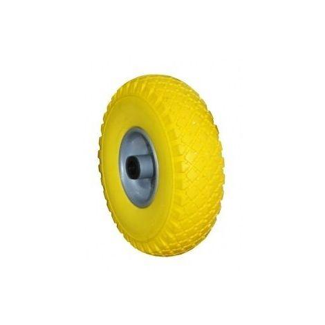 Ruota piena gialla 260x75 mm x carrello cerchio in acciaio verniciato 300-4