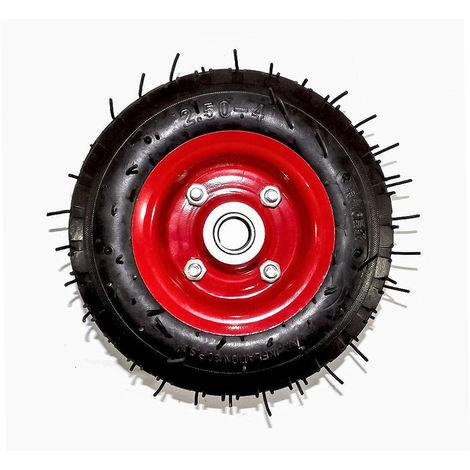 Ruota ruotino pneumatico per carrello portapacchi 2.50-4 200mm