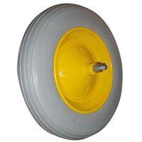Ruota vespa per carriola run flat in poliuretano antiforatura 350x80x110mm - Capaldo