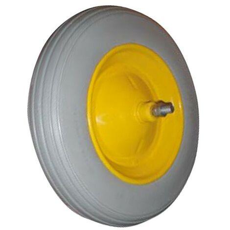 Ruota vespa per carriola run flat in poliuretano antiforatura 350x80x110mm - Salone