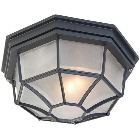 Rural ceiling lamp dark gray IP44 - Bri L
