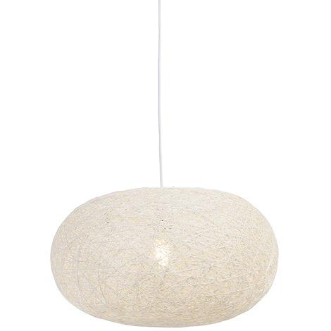 Rural hanging lamp white 50 cm - Corda Flat